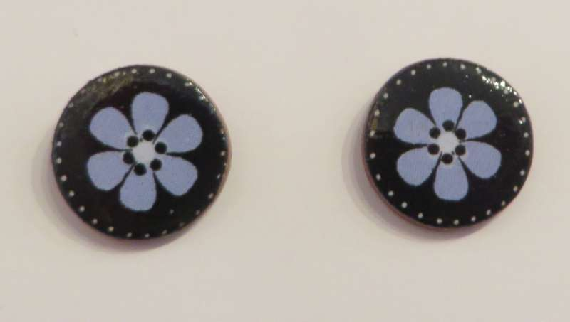 Blue Flower Stud Earrings