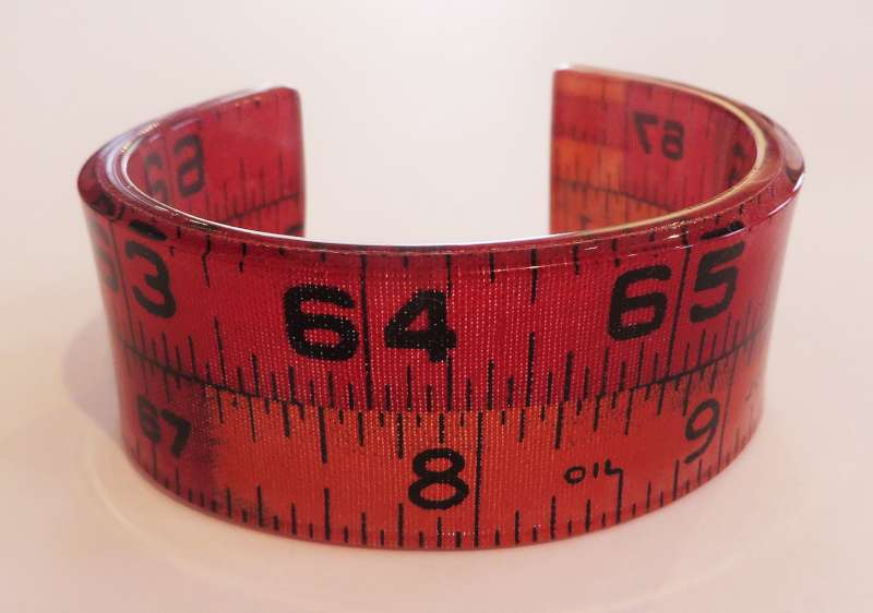 Red Tape Measure Double Cuff